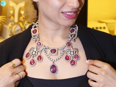 Polki And Ruby Georgian Necklace By Symetree