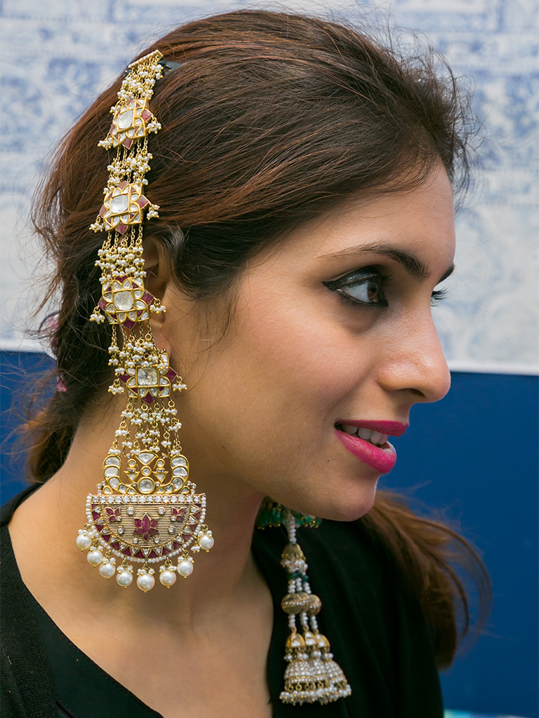 Kashmiri Jhumkas With Polki, Ruby And Pearls By Birdhichand Ghanshyamdas Jewellers