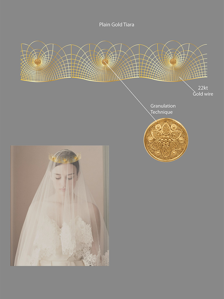 Gold Tiara That Could Be Worn In Weddings And Has An Universal Appeal