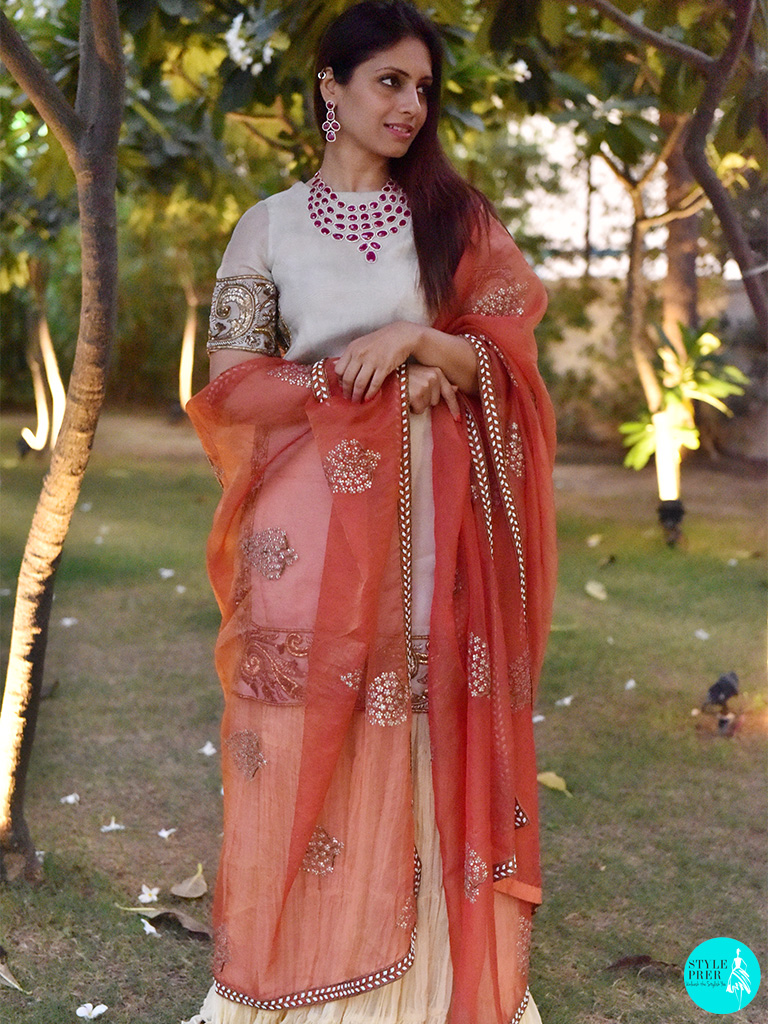 A Walk Through The Lawn In Gyan Museum Wearing A Bridal Ruby Necklace Set From Gyan Jewels