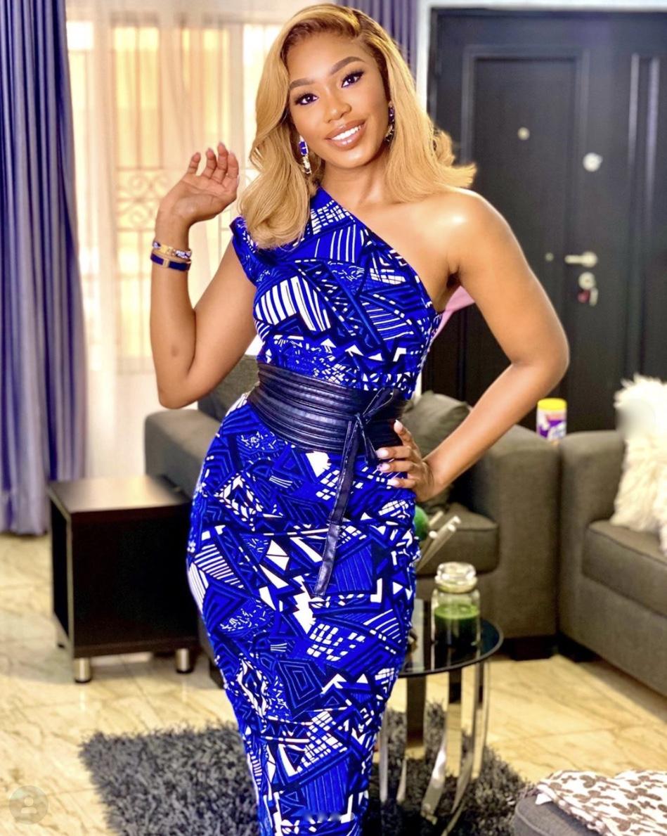 Sharon ooja blue midi dress latest fashion trends stylerave