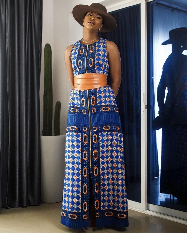 ankara maxi gowns brown obi belt stylerave