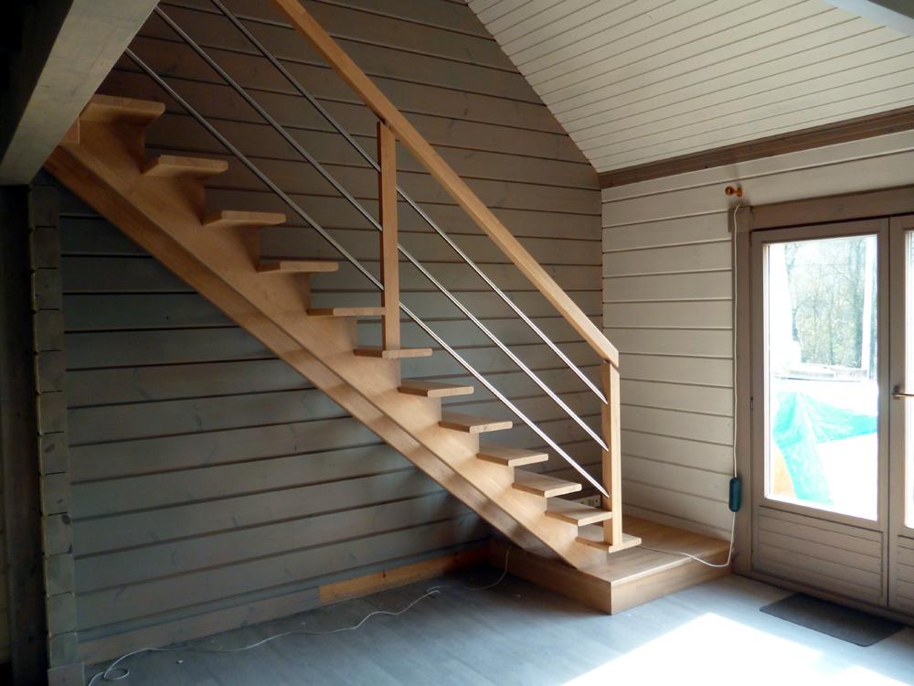 Styl'escalier : Gamme Création Escalier à double crémaillères centrales