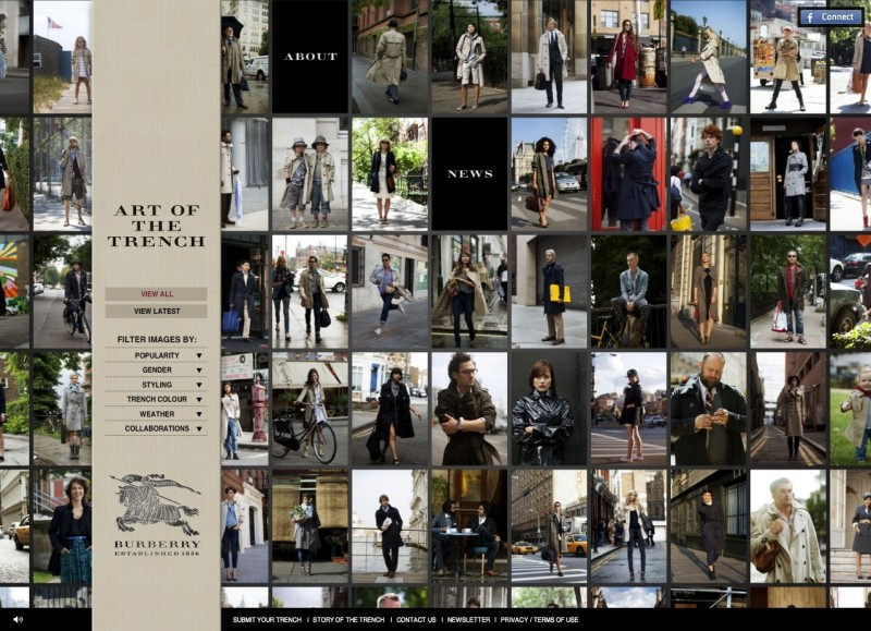 burberry art of the trench 1 1 Burberry e o Marketing Digital