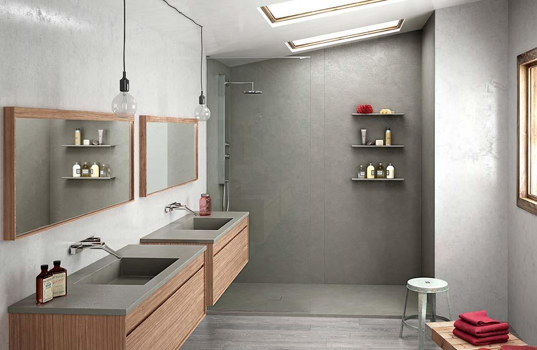 panneau pour salle de bain imitation carrelage unixpaint. Black Bedroom Furniture Sets. Home Design Ideas