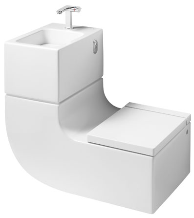 les wc lave mains pour gagner de la place aux toilettes