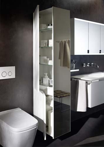 Sparer WC Et Lavabo Avec Une Armoire Colonne I Styles De Bain