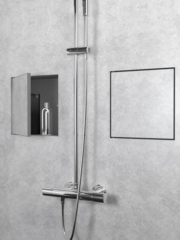 une niche murale dans la douche