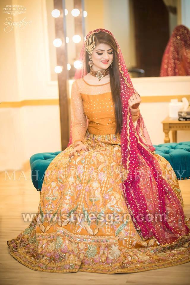 Latest Bridal Mehndi Dresses Wedding Collection 2018 2019