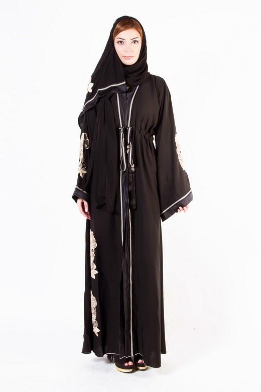 Latest Arabian Abaya Designs 2015 16 With Hijab Collection