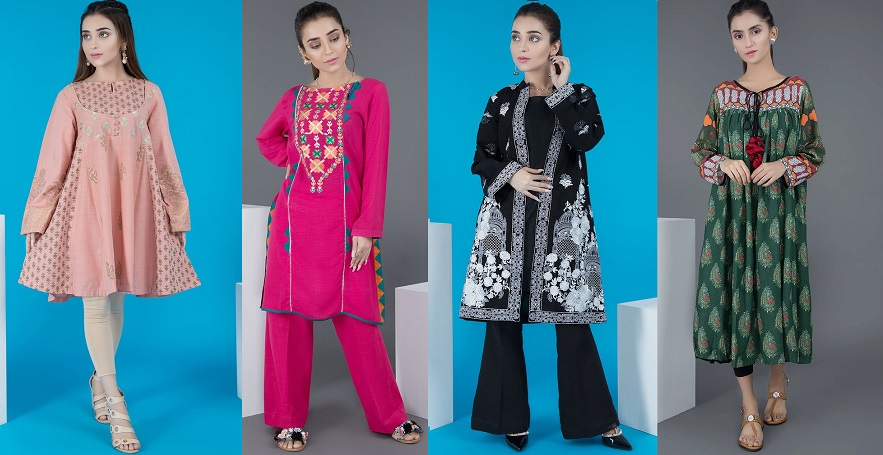 Warda Pakistani Designer Winter Shirts Kurtis Collection 2019 2020