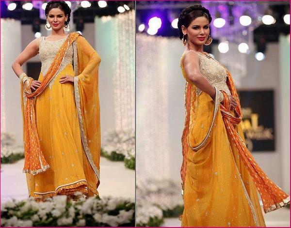 Latest Bridal Mehndi Dresses Collection 2015 2016
