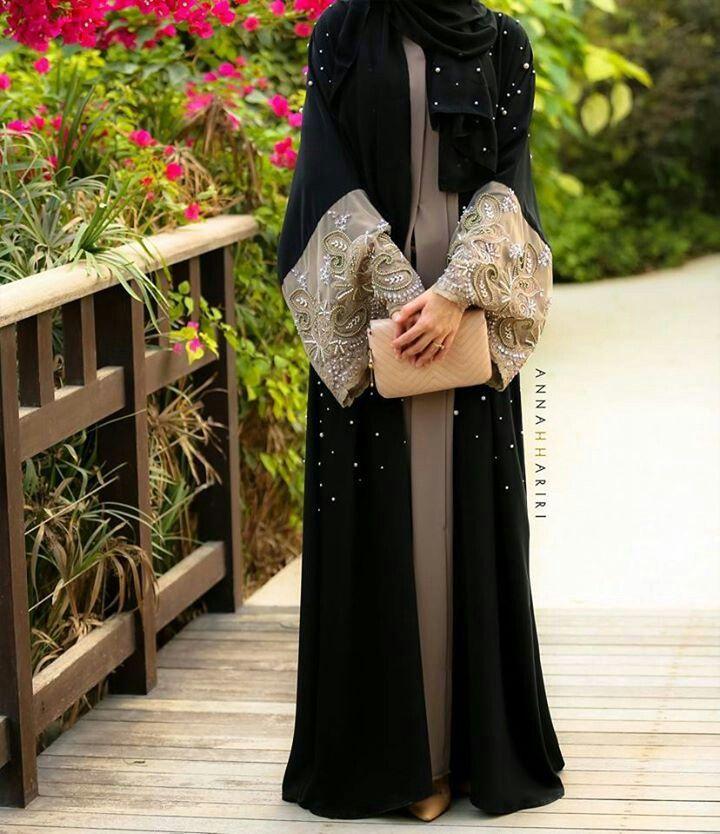 Latest Black Plain Abaya Designs Collection 2015 16