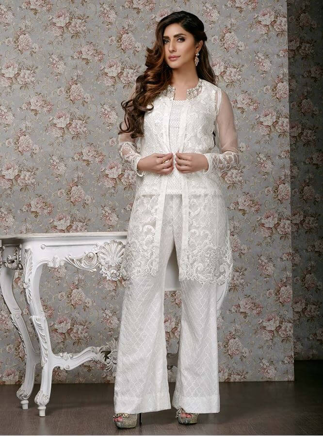 Latest Pakistani Dresses Styles Pairing Bell Bottom Pants