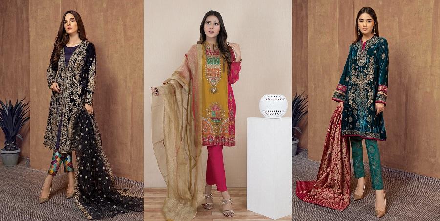 Latest Women Best Winter Dresses Designs Collection 2019 20 Pakistani