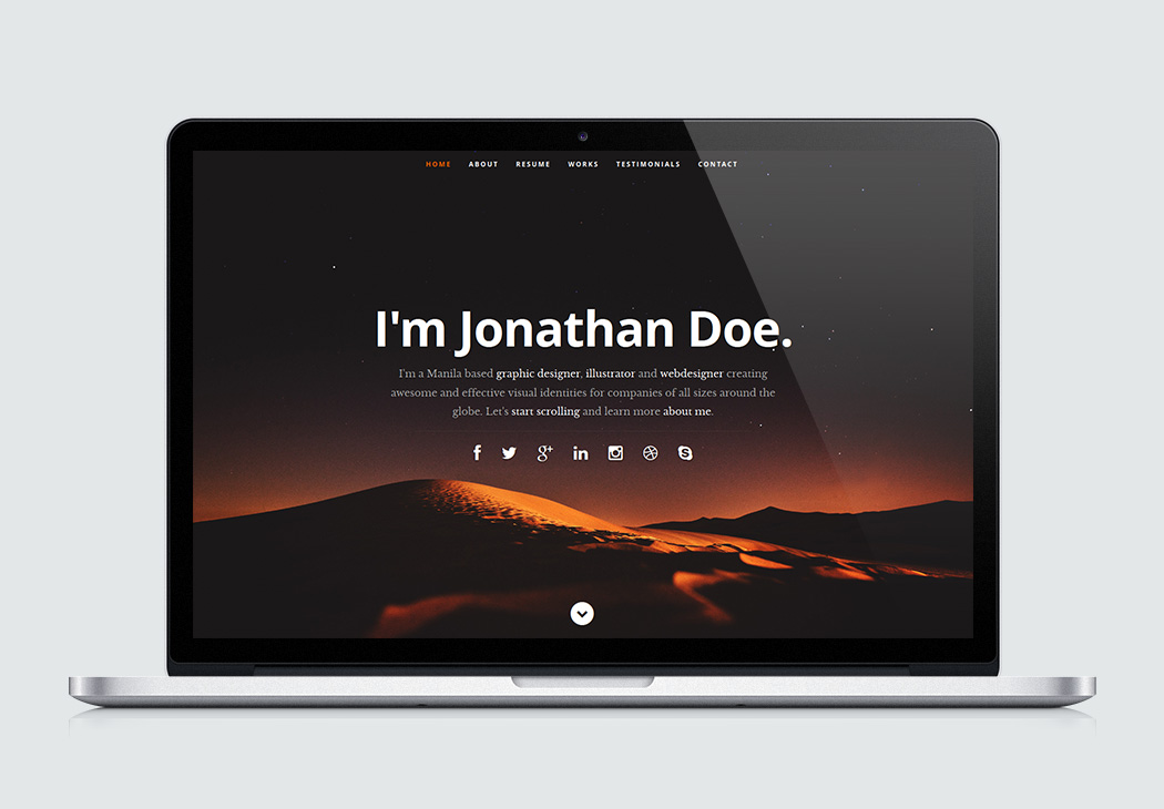 html5 resume templates for free download styleshout