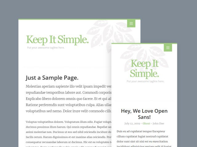 Free Website Template - Keep It Simple 3.0.0 - 02