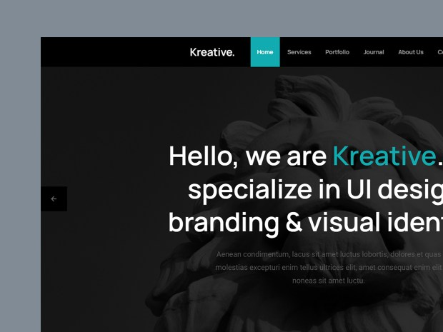 Free Website Template - Kreative 2.0.0 - 01