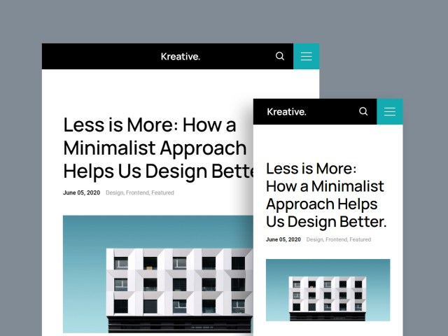 Free Website Template - Kreative 2.0.0 - 02