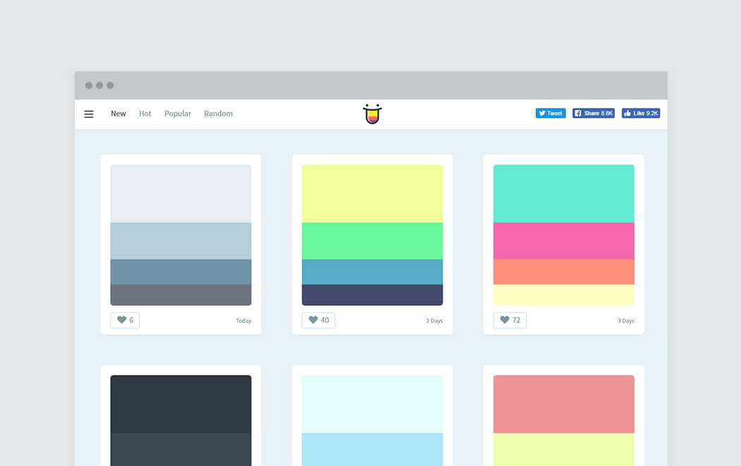 Color palette generator and color tool - Color Hunt