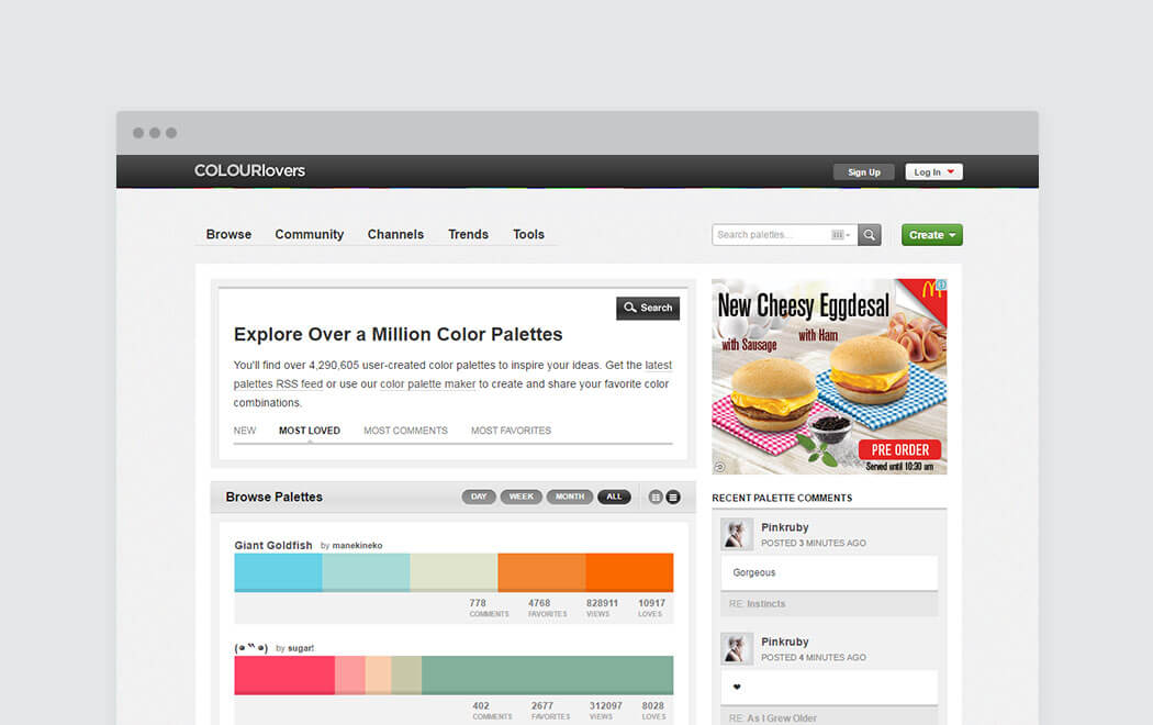 Color palette generator and color tool - Colourlovers