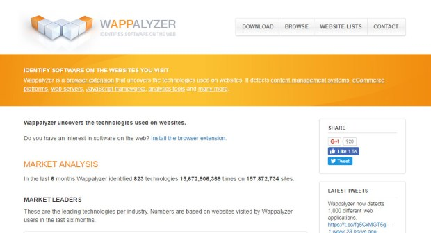 Chrome Extension for Web Designers - Wappalyzer