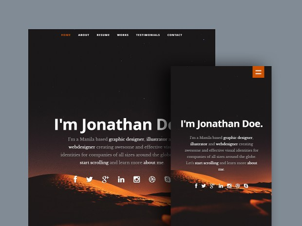 Free Website Template - Ceevee 02