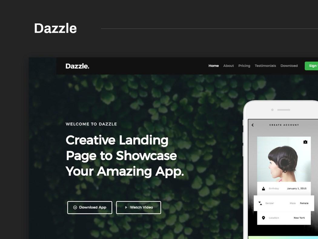 Free Website Template - Dazzle