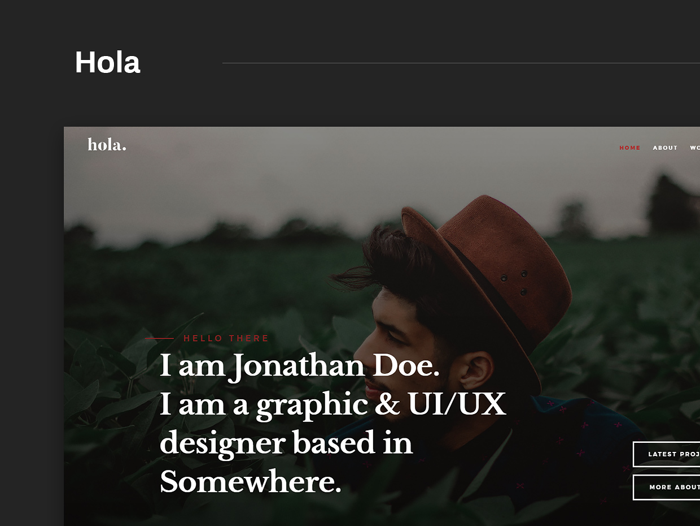 Free Website Template - Hola