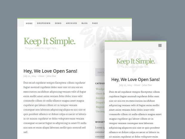 Free Website Template - Keep It Simple 02