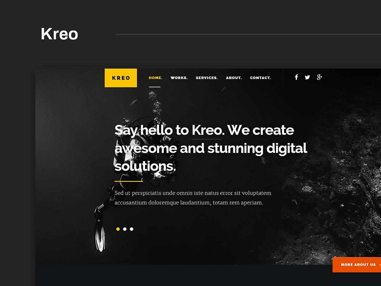 Free Website Template - Kreo