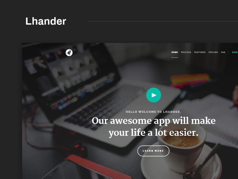 Free Website Template - Lhander