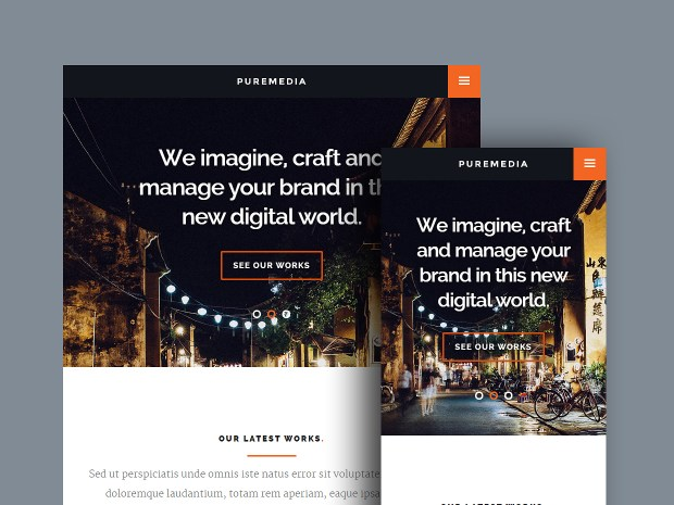 Free Website Template - Puremedia 02