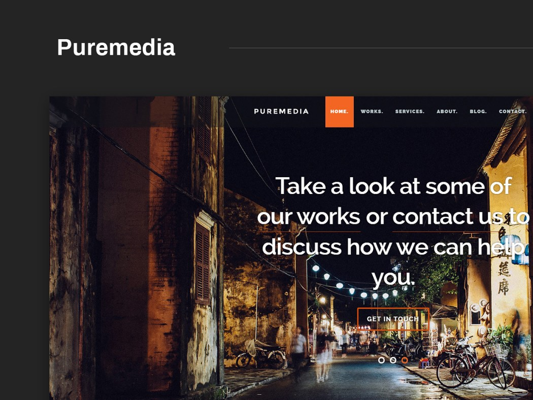 Free Website Template - Puremedia