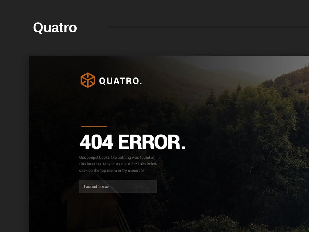 Free Website Template - Quatro