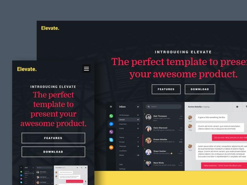 Free Website Template - Elevate