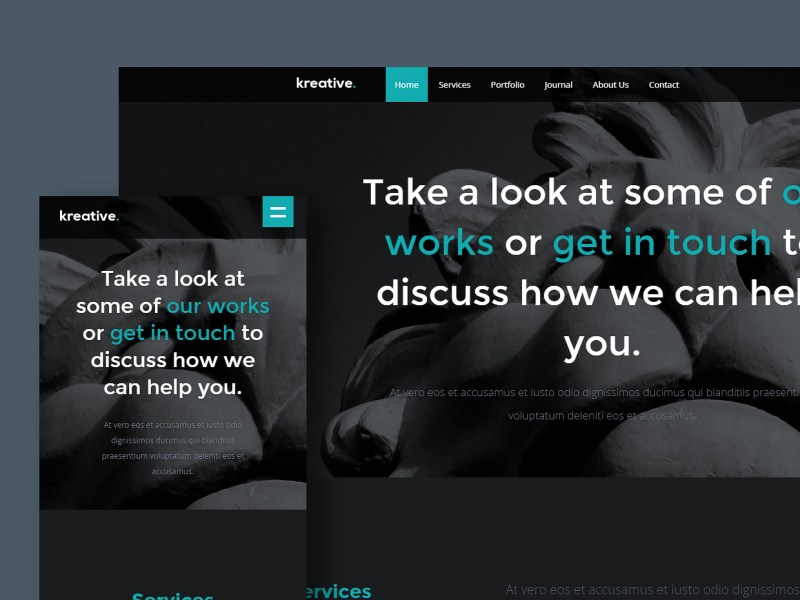 Free Website Template - Kreative