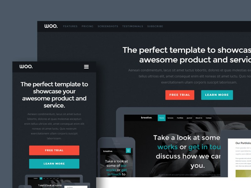 Free Website Template - Woo