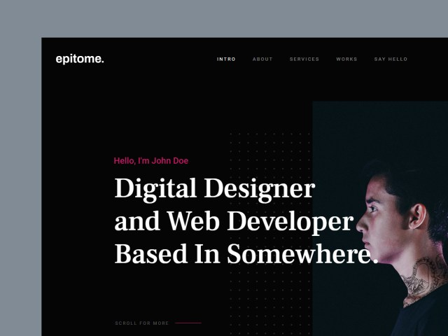 Free Website Template - Epitome 01