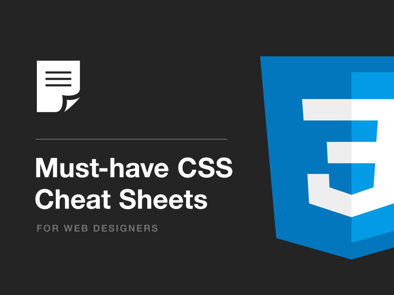 Must-have CSS Cheat Sheets for Web Designers