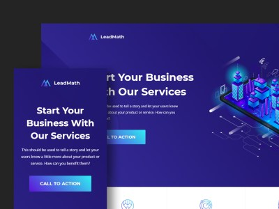 LeadMath - Lead Generation HTML Landing Page Template