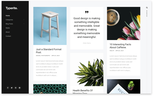 Typerite - Free Blog Website Template