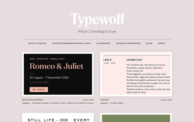 Type Wolf - Excellent Font Pairing Tools for Designers