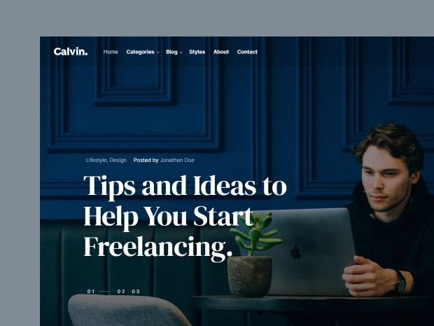 Calvin - Free HTML Blog Template 01