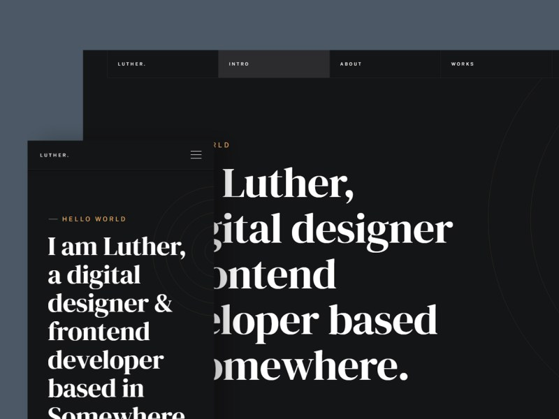 Luther - Free Resume Website Template