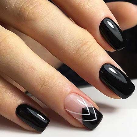 Black Nail Polish On Short Nails
