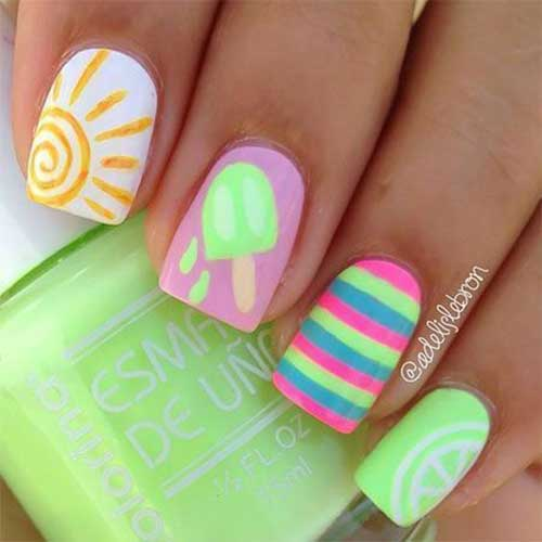 Latest 20 Easy Summer Nails Styles 2020