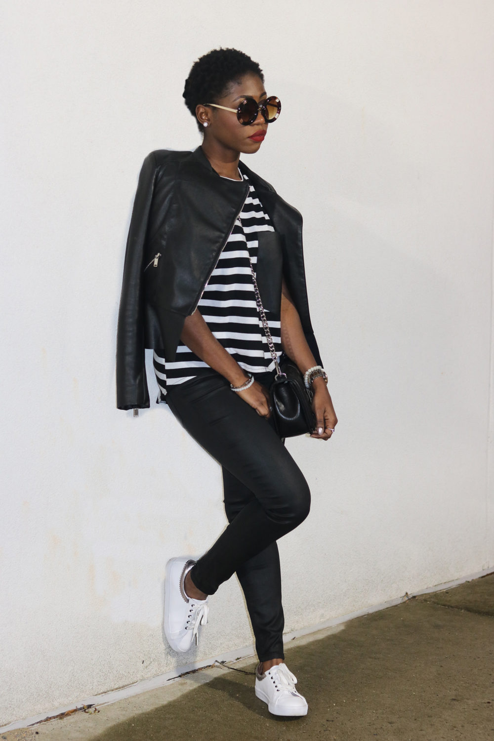 black n white outfit
