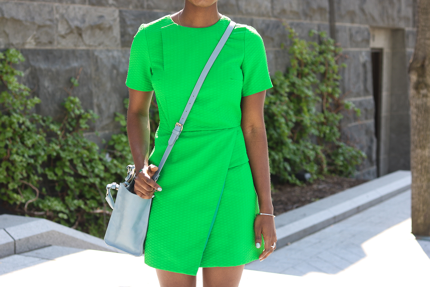 style synopsis_ green dress