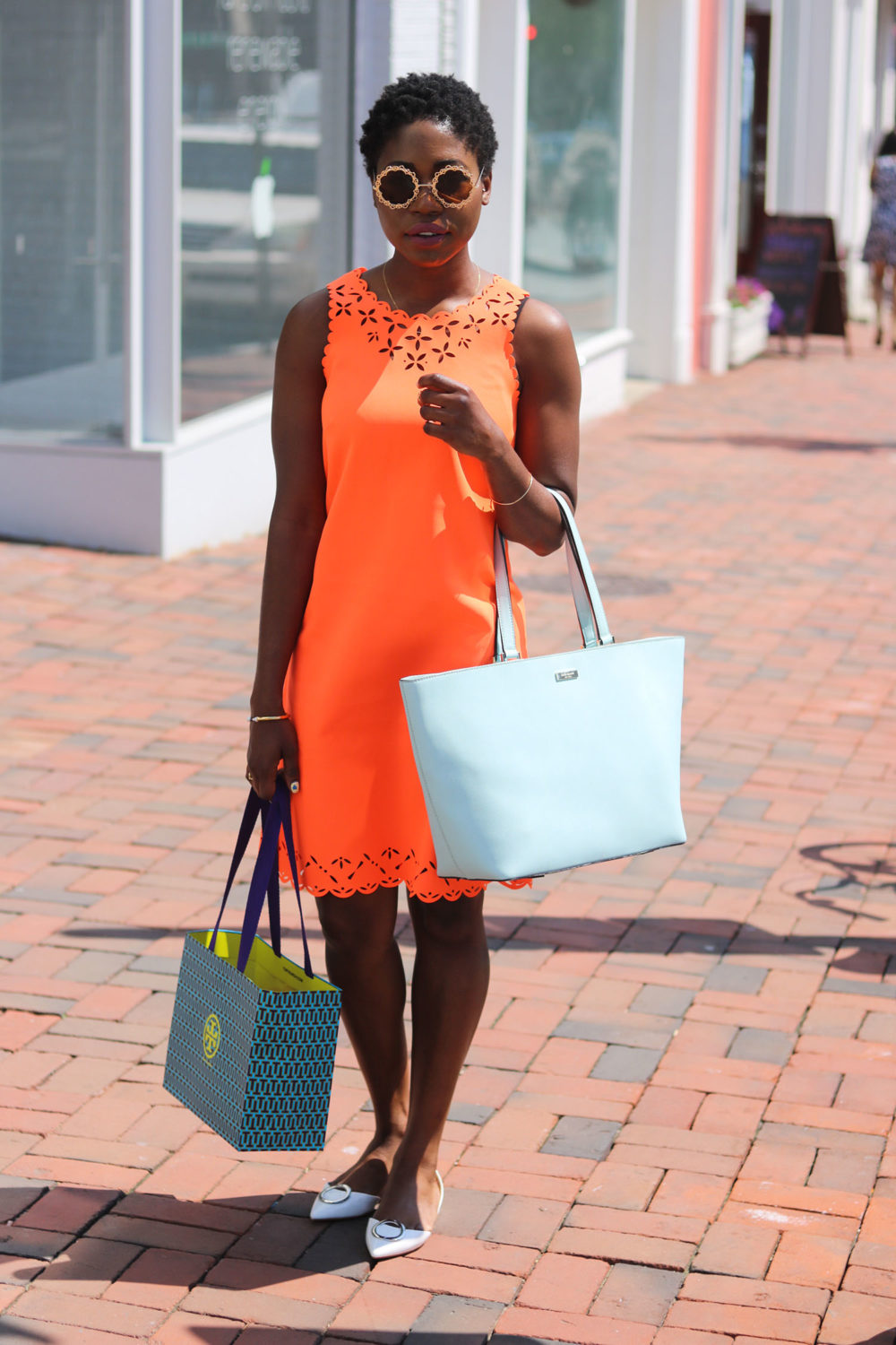 style synopsis neon orange dress
